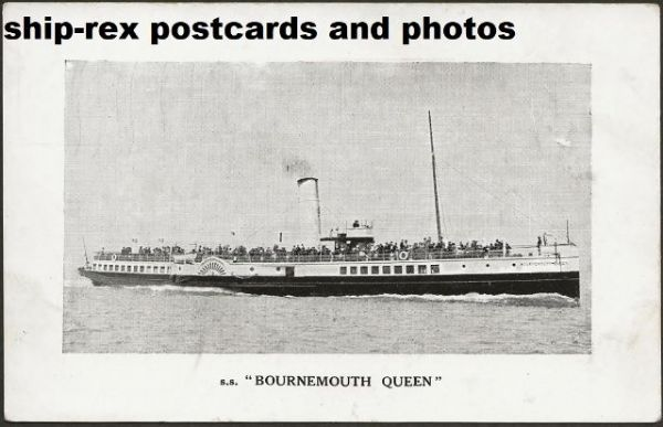 BOURNEMOUTH QUEEN (Red Funnel) postcard (a)